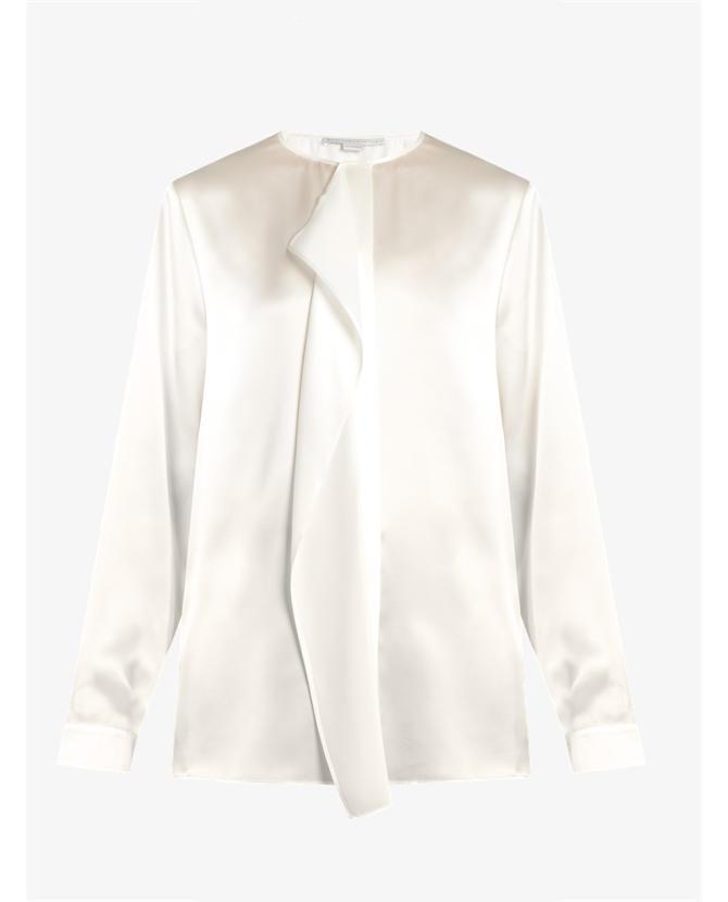 Stella McCartney Goldie ruffled silk-satin blouse $1,100