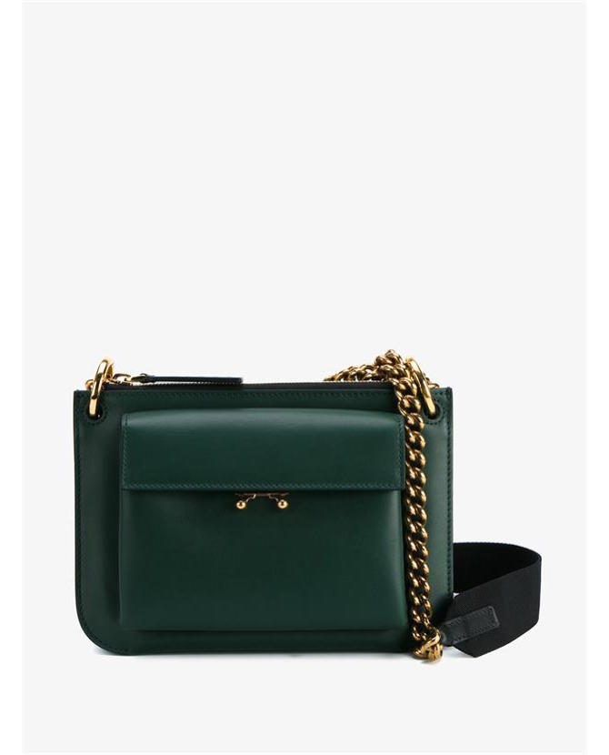 Marni Trunk bi-colour leather cross-body bag $1,310