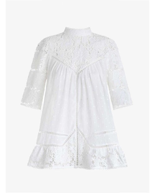 Zimmermann Caravan Embroidered Smock Top $450