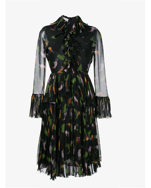 Gucci Toucan print riffle dress $4,549