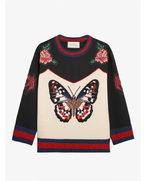 Gucci Embroidered bonded cotton-jersey sweatshirt $1,976