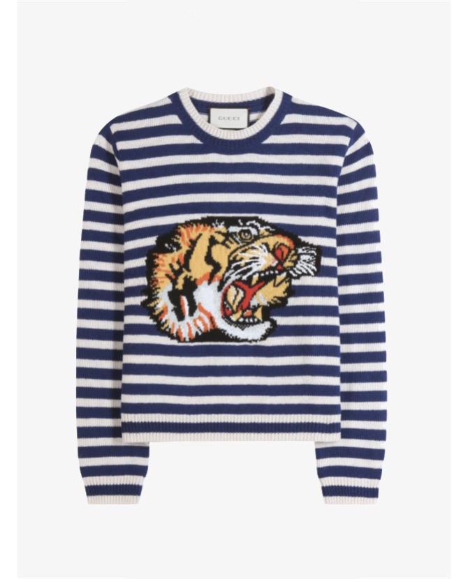 Gucci Tiger print wool sweater $1,398