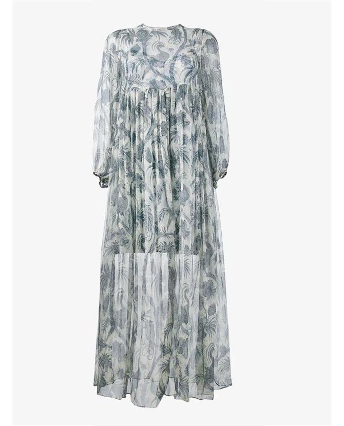 Zimmermann Long Bird Print Dress $1,043