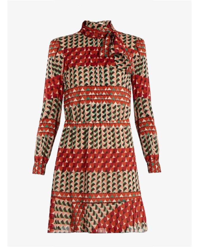 REDValentino Heart-print silk-blend dress $972