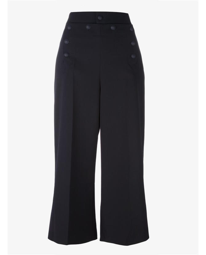 REDValentino Wide leg cropped trousers $456