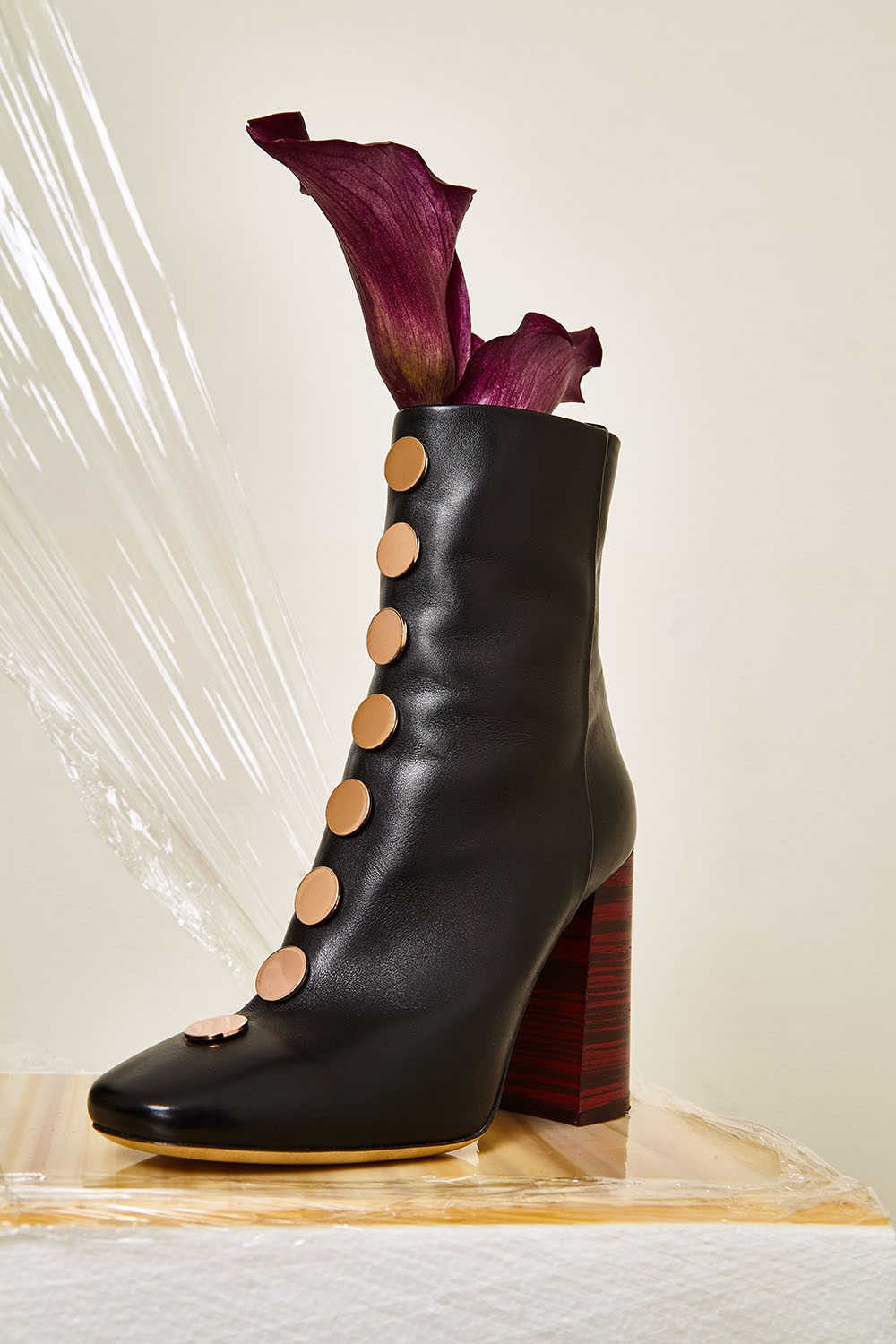 Ellery Esmond ankle boot with disc studs $1,240
