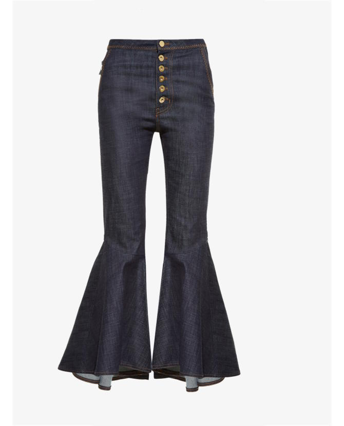 Ellery Hysteria high-rise ruffled-cuff jeans $887