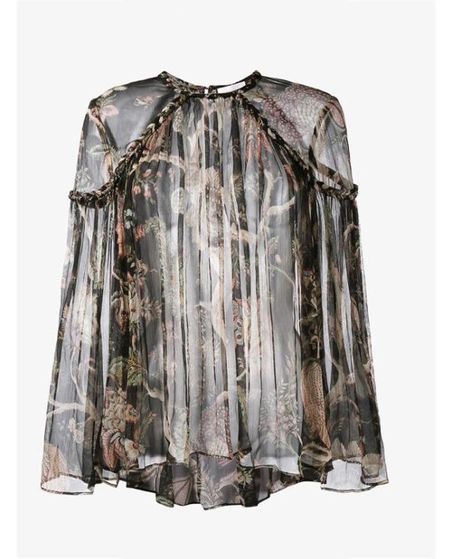 Zimmermann Sheer Floral Print Blouse $695