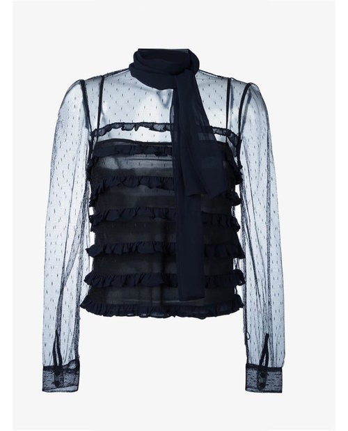 REDValentino Sheer tulle blouse $611