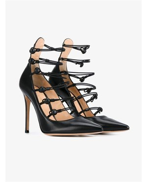 Gianvito Rossi Multi-Strap Leather Pumps $1,040