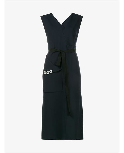 Ellery Chicago Sleeveless Wool Blend Dress $1,460