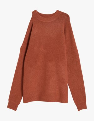 Tibi Cozy Cut Out Shoulder Pullover $395