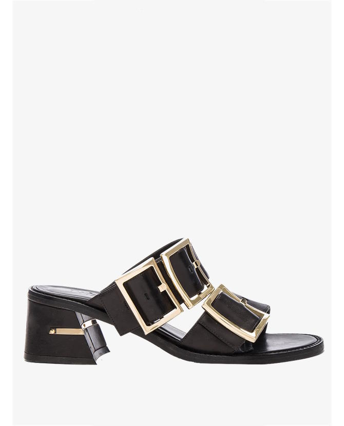 Tibi Leather Kari Black Sandals $687