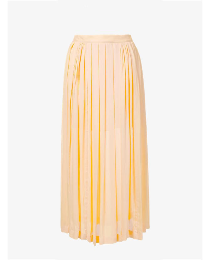 Kitx Pleated panelled yellow skirt $499