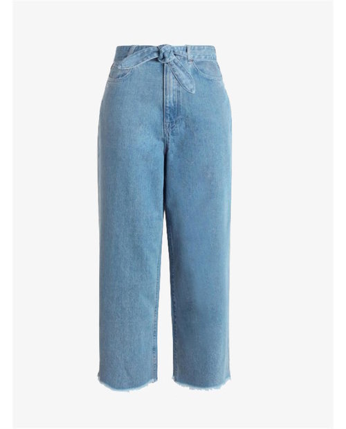Zimmermann Caravan denim cropped flare $350