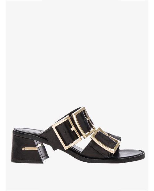 Tibi Leather Kari Black Sandals $687