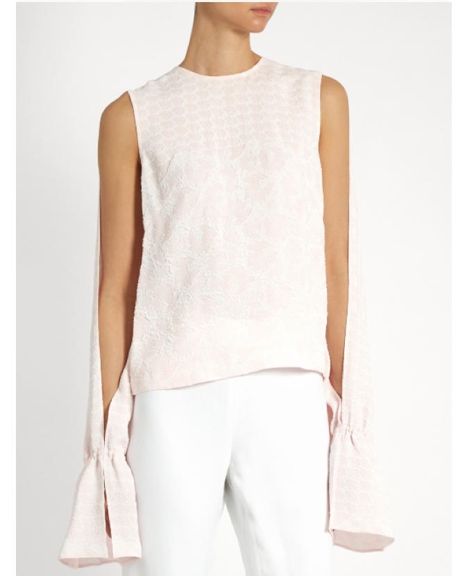 Osman Petra round-neck long-sleeved jacquard top $593