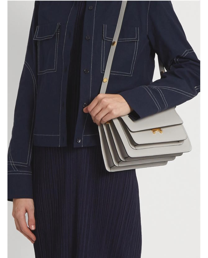 Marni Trunk medium leather shoulder bag $1,562