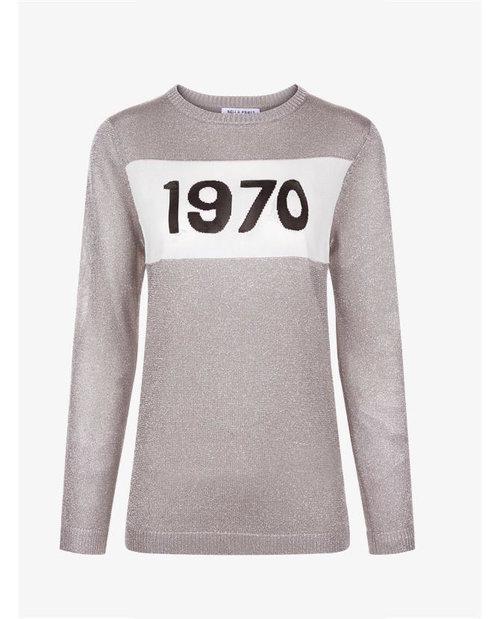 Bella Freud Silver Lurex 1970 Sweater $430