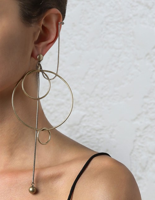 Zimmermann Suspended link earring with cuff $220