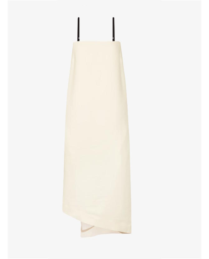 Bassike Asymmetric crepe midi dress $595