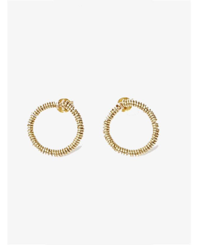 Bassike Pigna loops earrings gold $290