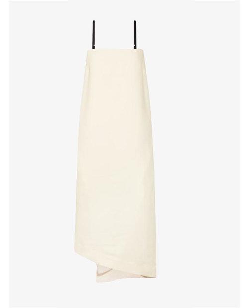 Bassike Asymmetric crepe midi dress $595