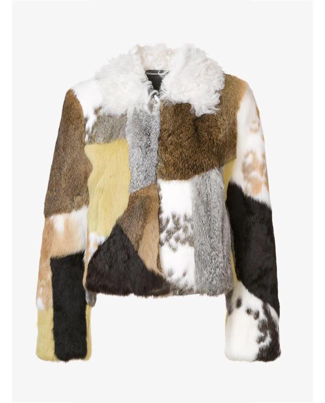 Proenza Schouler patchwork fur jacket $12,442