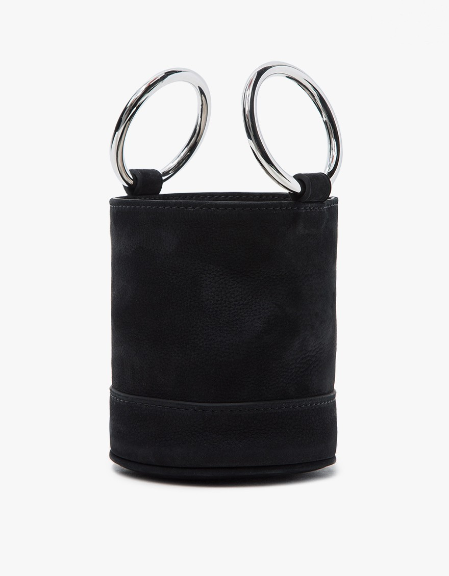 Simon Miller Bonsai Bag in Black Nubuck $390