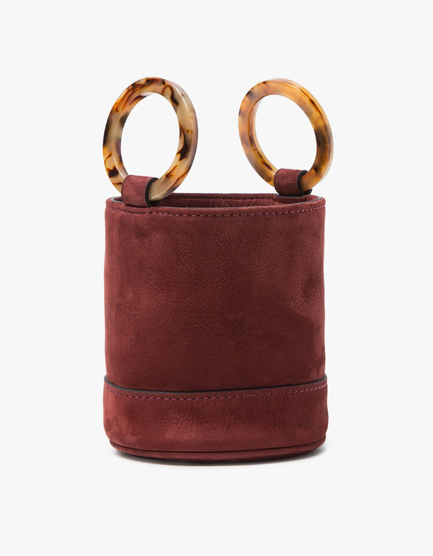 Simon Miller Bonsai Bag in Oxblood Nubuck $390