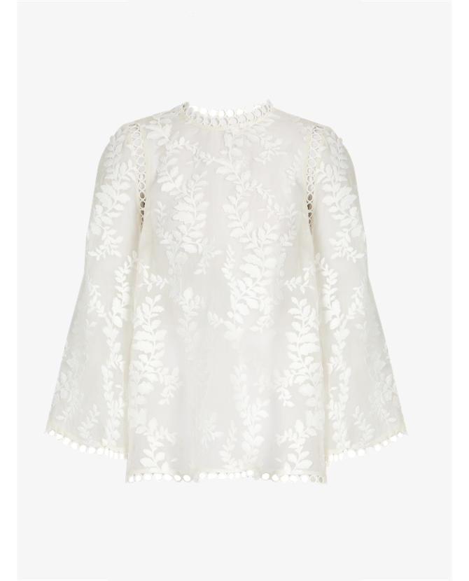 Zimmermann Winsome fil coupé silk-organza blouse $680