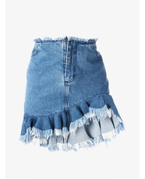 Marques'almeida Ruffled denim skirt $461