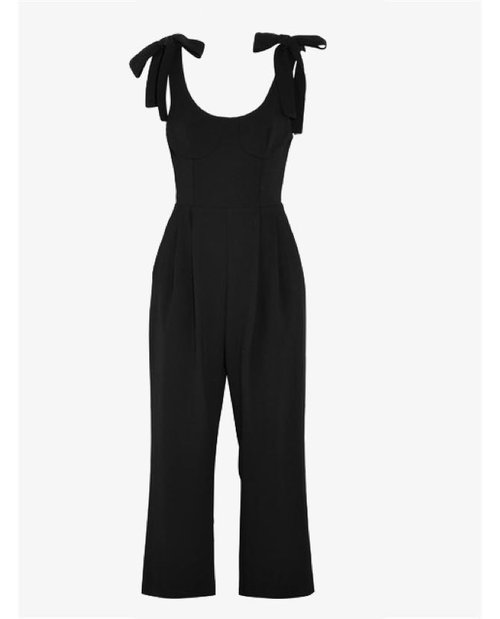 Rebecca Valance Courtside cropped cutout crepe jumpsuit $47