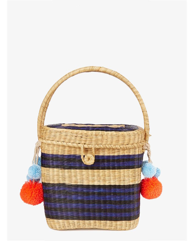 Sophie Anderson Cinto striped wicker basket bag $281