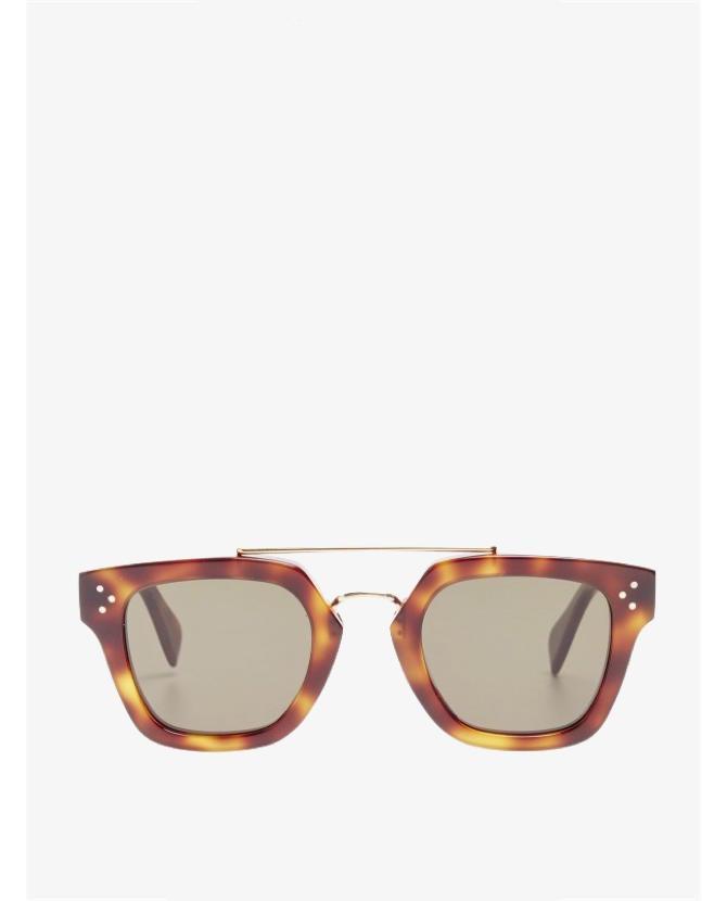 Celine Metal Bridge Aviator Sunglasses $590