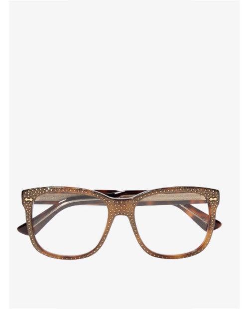Gucci Crystal-embellished square-frame acetate optical glasses $776