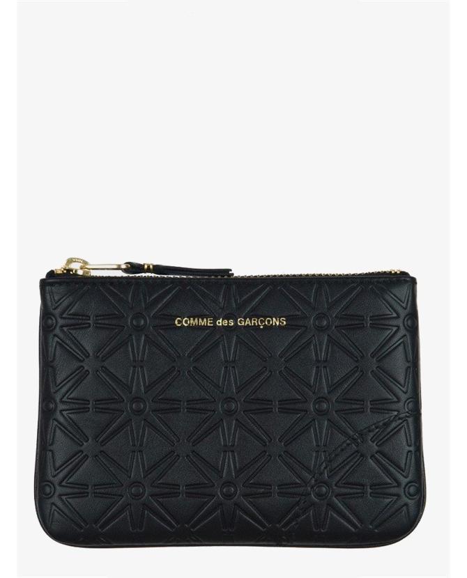 Comme des Garcons SA810 embossed leathe wallet in black $120