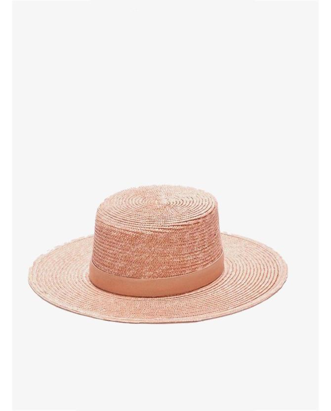 Jenessa Leone Calla hat in light pink $300