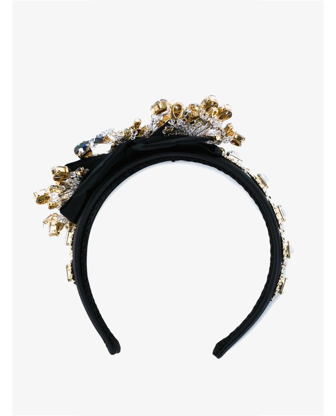 Dolce & Gabbana Crystal Embellished Hairband $2,159
