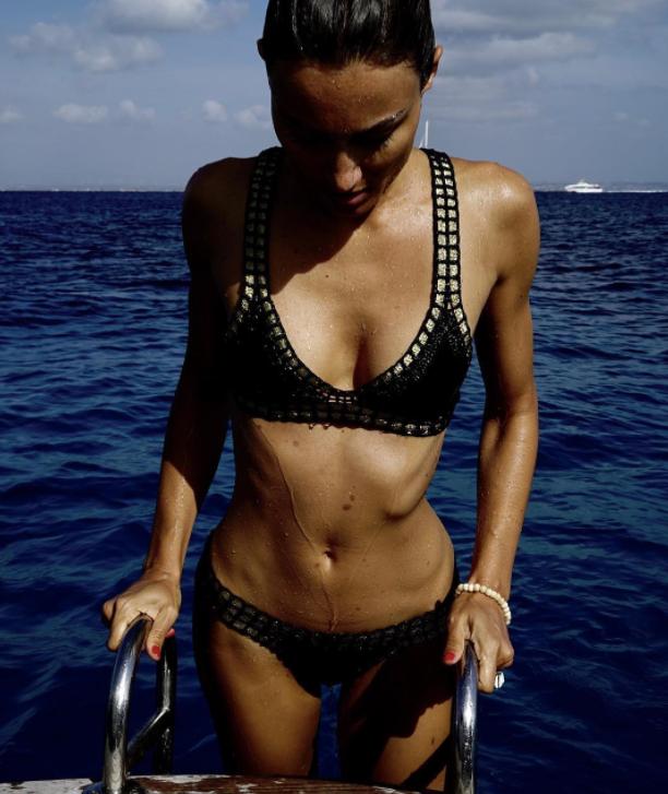 Kiini Chacha metallic-trimmed triangle bikini top (as seen on @giorgiatordini) $217