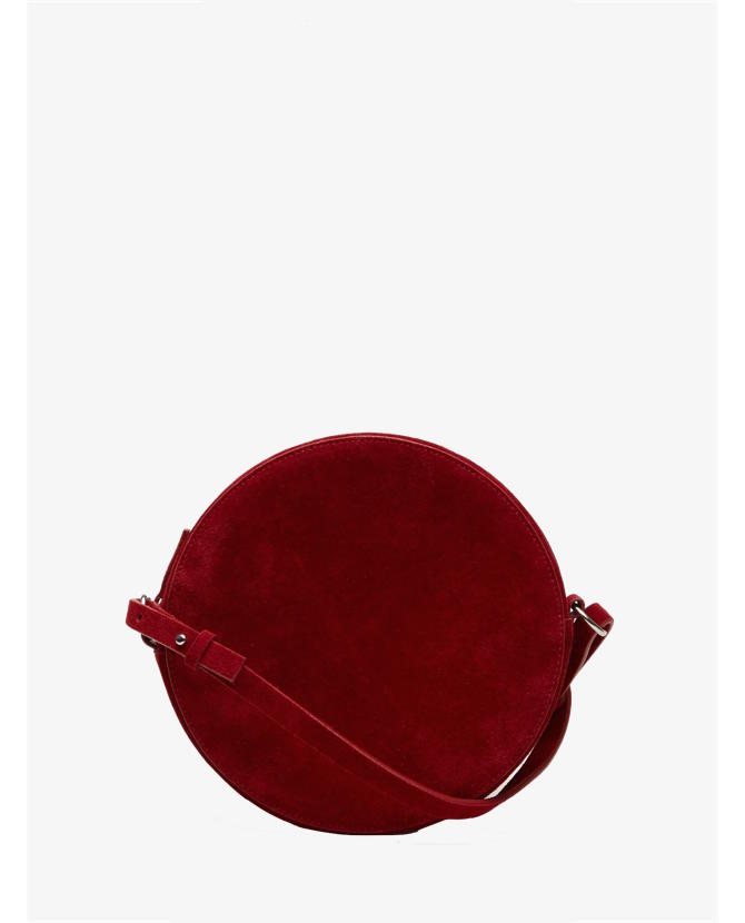COS Circular leather bag in red $133
