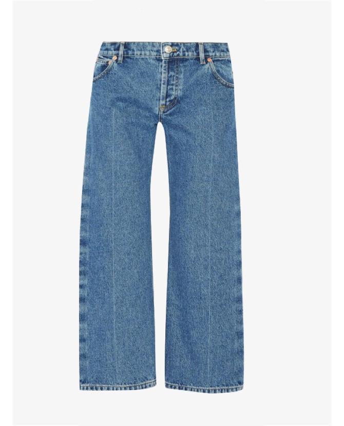 Balenciaga Rockabilly cropped low-rise wide-leg jeans $915