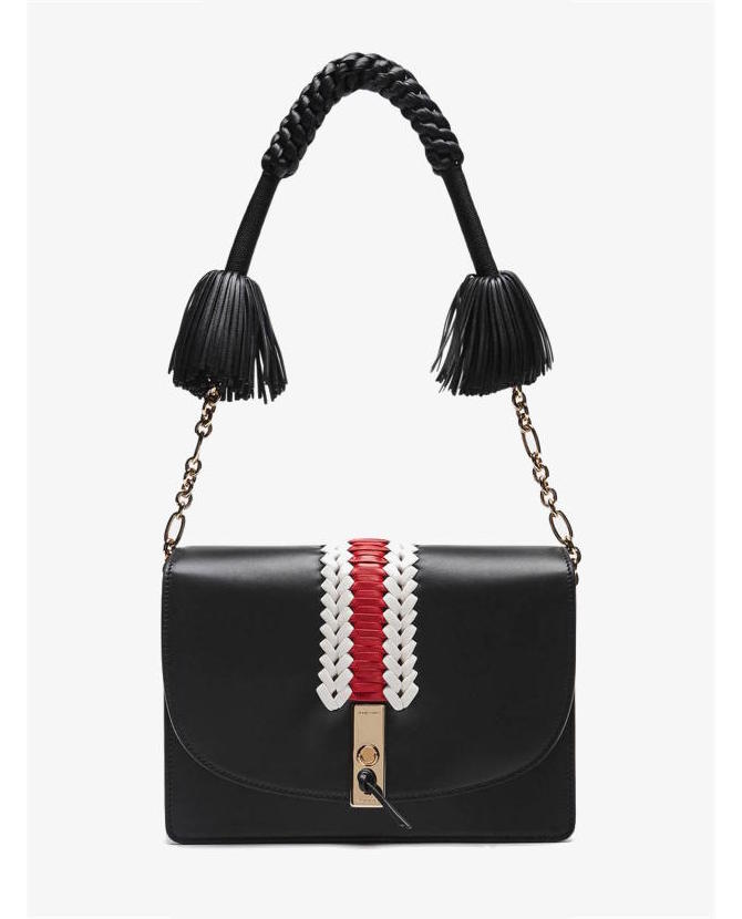 Altuzarra Ghianda Shoulder - Black w/ Embroidery $2,895