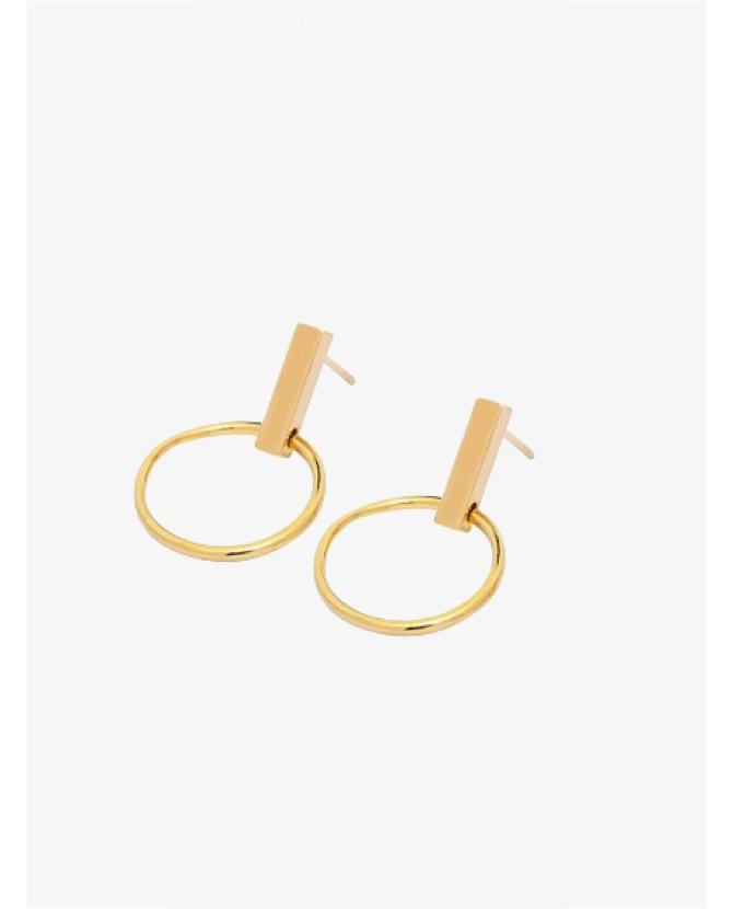 Holly Ryan Mini Minimal Hoops in Gold $20