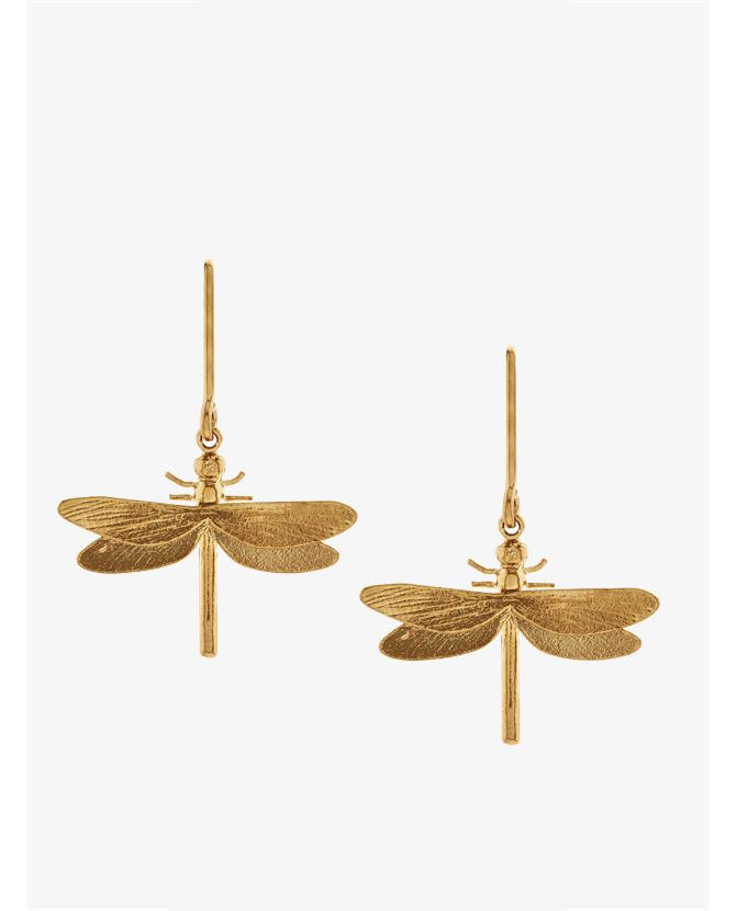 Alex Monroe Gold Classic Dragonfly Earrings $205