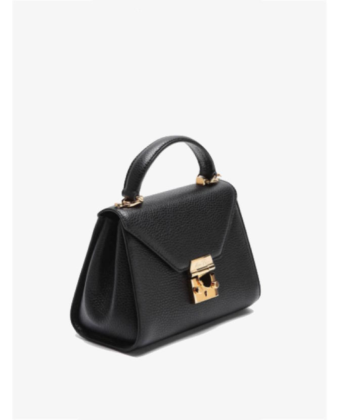 Mark Cross Hadley Baby Flap Bag in Black $1,695