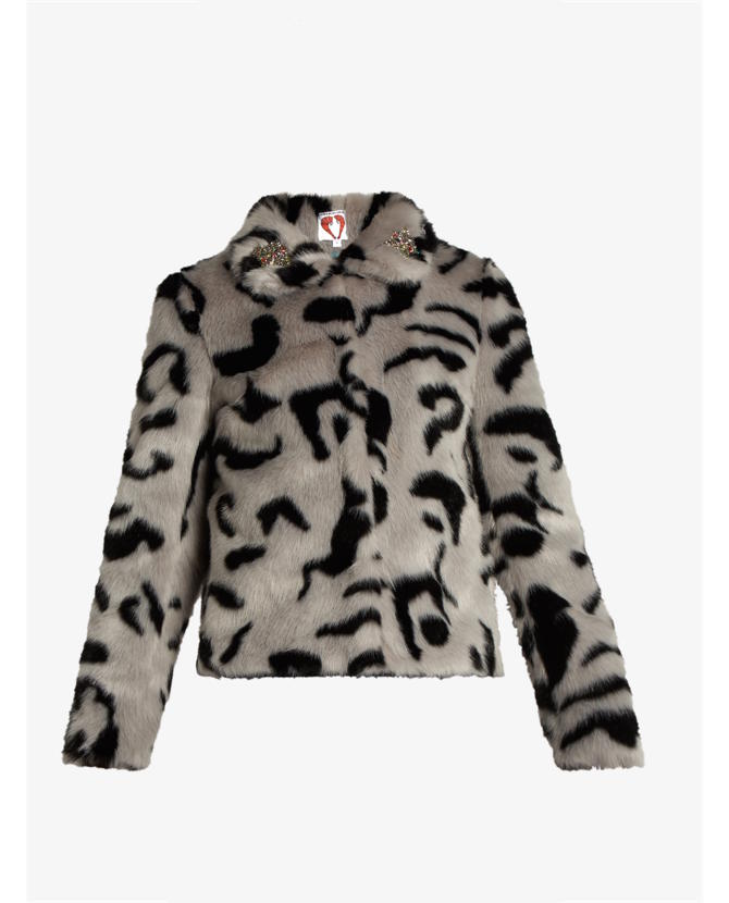 Shrimps Bingo embellished faux-fur jacket $531