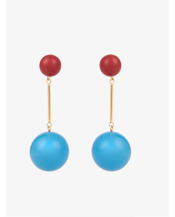 J.W.Anderson Contrast-sphere drop earrings $331