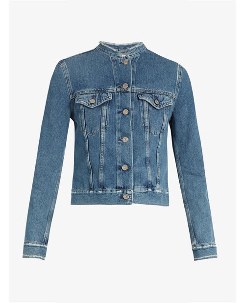 ACNE Studios Top distressed denim jacket $540