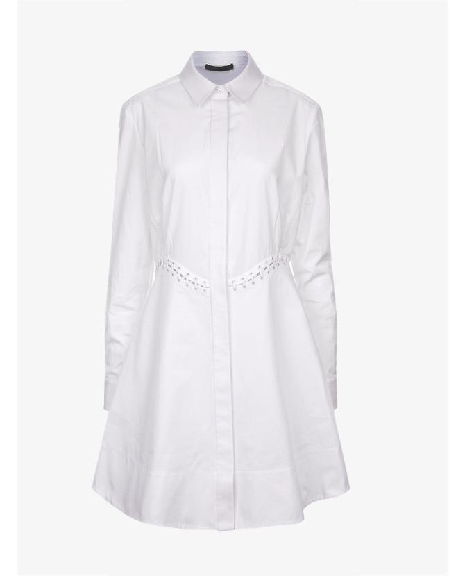 Alexander Wang White Cotton Laced Shirt Dress $768